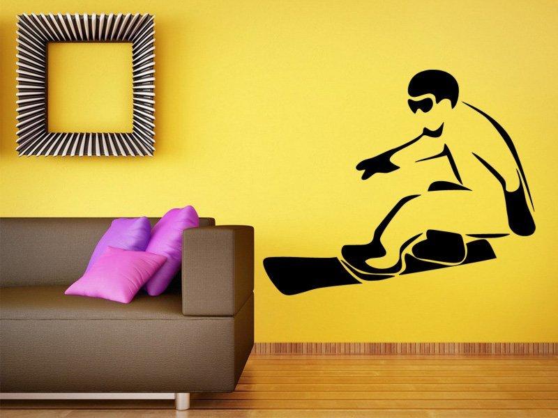 Samolepky na zeď Snowboardista 0972 - Samolepící dekorace a nálepka na stěnu