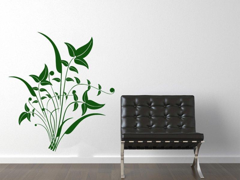Samolepky na zeď Ornamenty z rostlin 044 - Samolepící dekorace a nálepka na stěnu