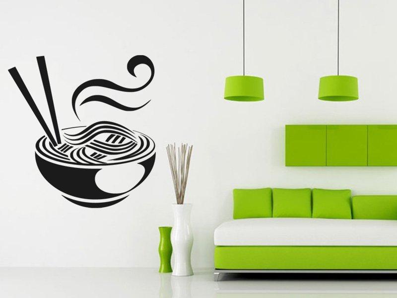 Samolepky na zeď Čínské nudle 0156 - Samolepící dekorace a nálepka na stěnu