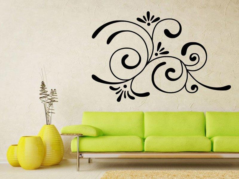 Samolepky na zeď Ornament 0176 - Samolepící dekorace a nálepka na stěnu