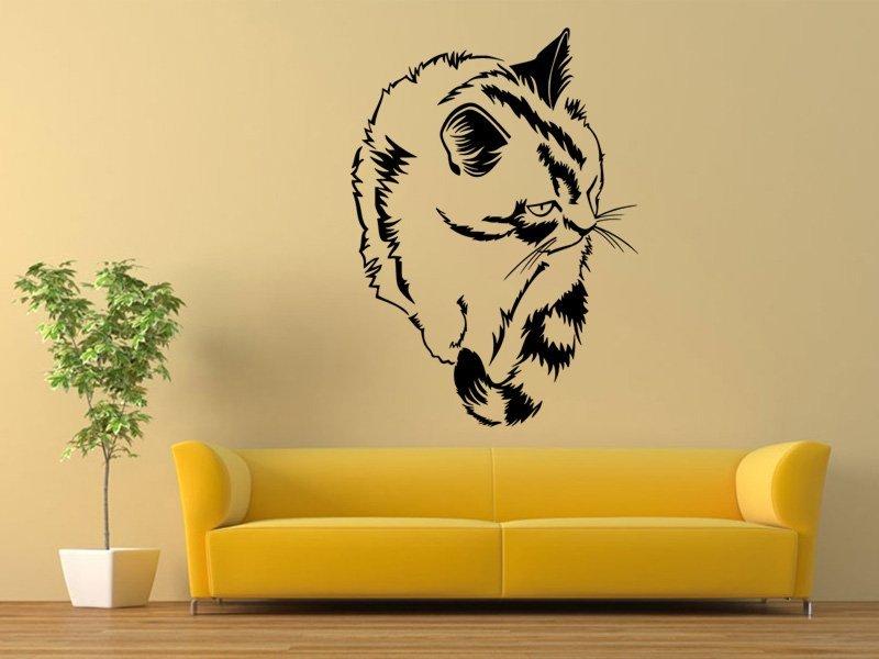 Samolepky na zeď Kočka 0427 - Samolepící dekorace a nálepka na stěnu
