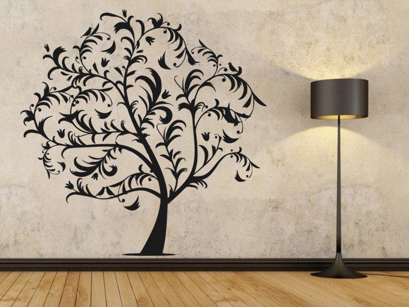 Samolepky na zeď Strom 038 - Samolepící dekorace a nálepka na stěnu