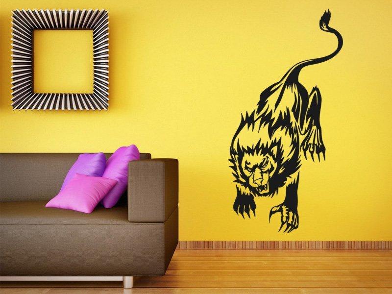 Samolepky na zeď Lev 012 - Samolepící dekorace a nálepka na stěnu