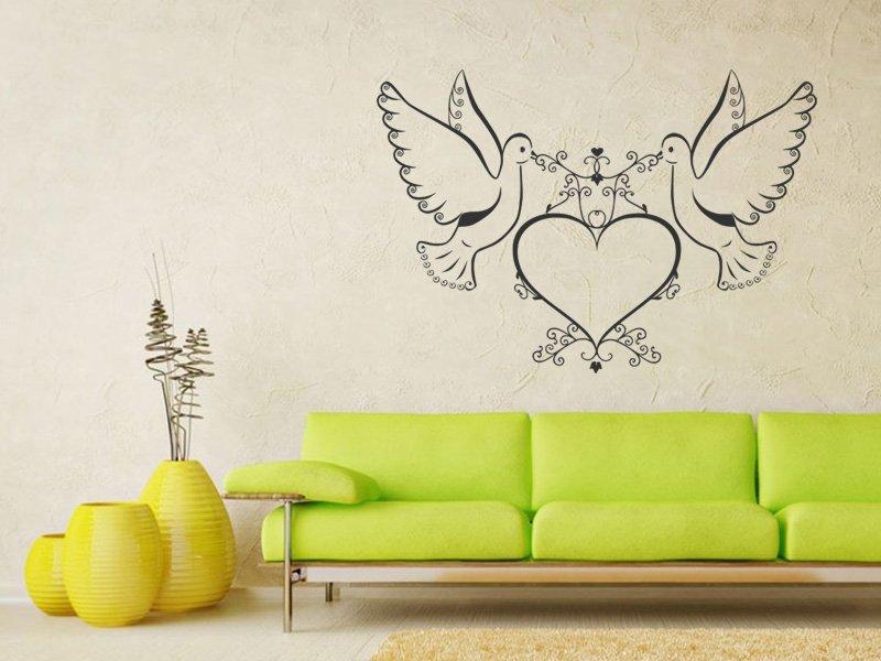 Samolepky na zeď Láska 002 - Samolepící dekorace a nálepka na stěnu