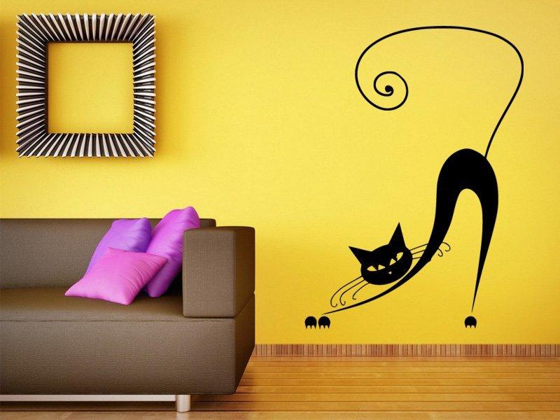 Samolepky na zeď Kočka 011 - Samolepící dekorace a nálepka na stěnu