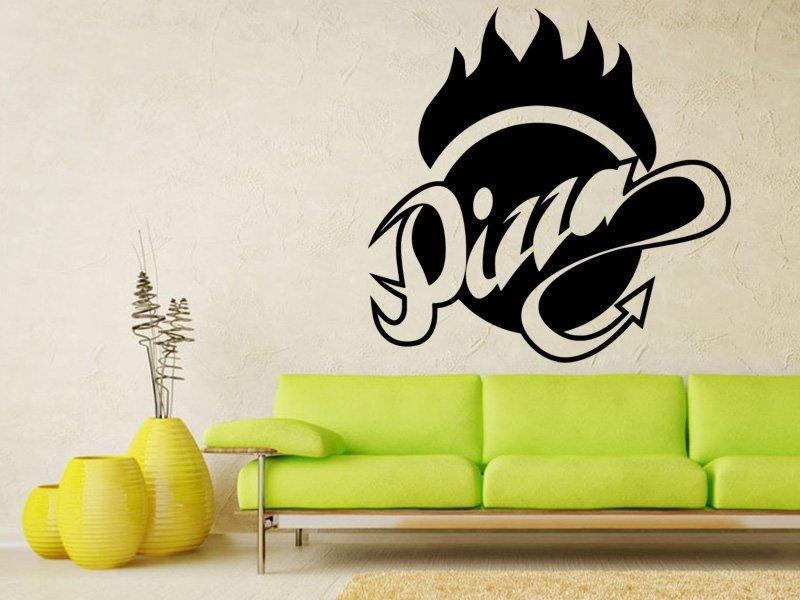 Samolepky na zeď Nápis Pizza 0140 - Samolepící dekorace a nálepka na stěnu