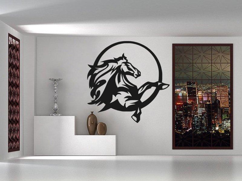 Samolepky na zeď Kůň 0383 - Samolepící dekorace a nálepka na stěnu