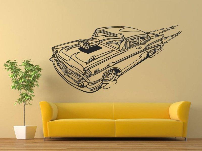 Samolepky na zeď Auto 007 - Samolepící dekorace a nálepka na stěnu