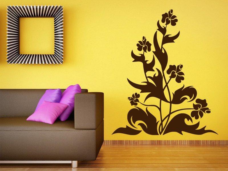 Samolepky na zeď Květiny 035 - Samolepící dekorace a nálepka na stěnu