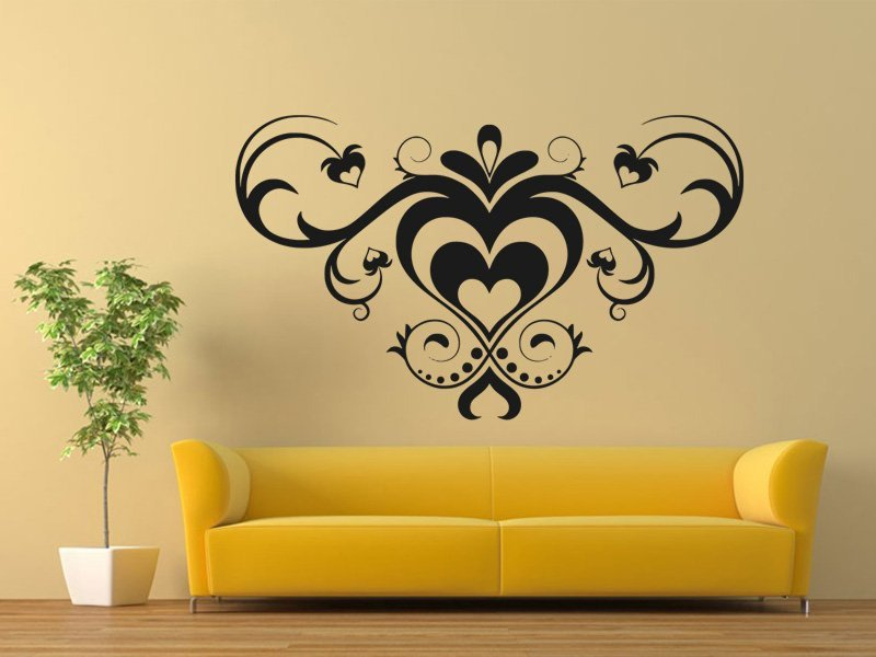 Samolepky na zeď Srdce 0249 - Samolepící dekorace a nálepka na stěnu