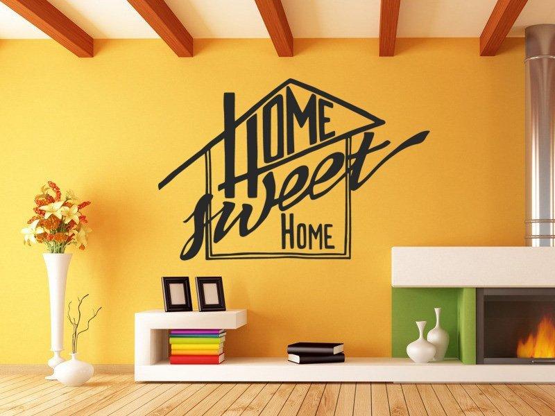 Samolepky na zeď Nápis Home Sweet Home 0629 - Samolepící dekorace a nálepka na stěnu