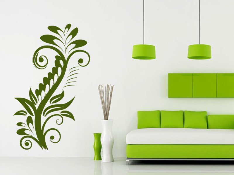 Samolepky na zeď Rostlina 015 - Samolepící dekorace a nálepka na stěnu