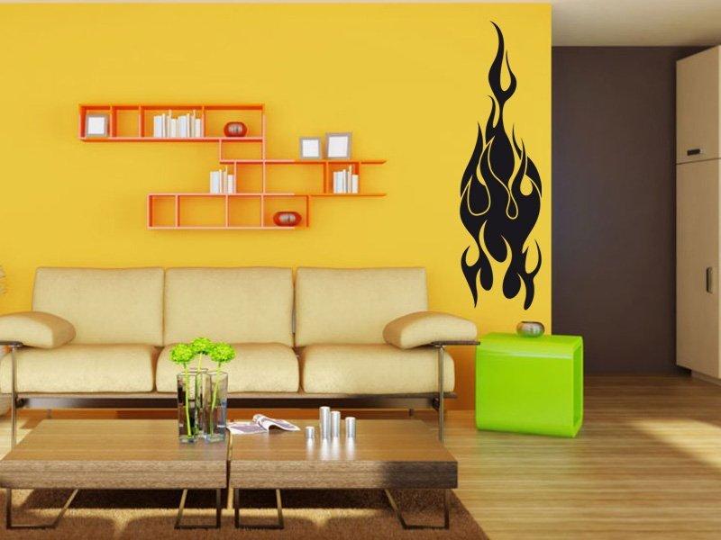 Samolepky na zeď Plameny 006 - Samolepící dekorace a nálepka na stěnu