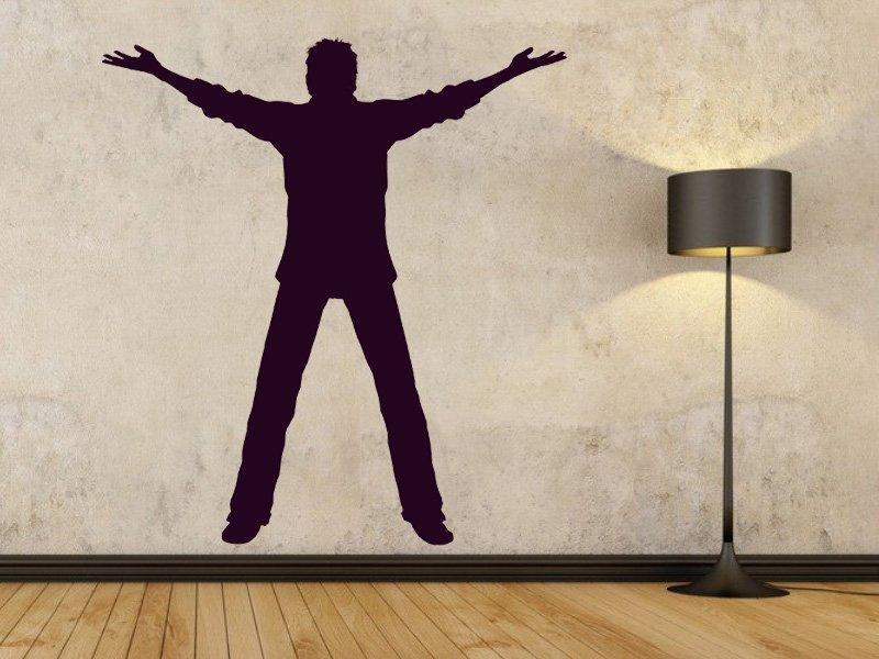 Samolepky na zeď Silueta 002 - Samolepící dekorace a nálepka na stěnu