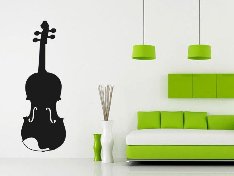 Samolepky na zeď Housle 002 - Samolepící dekorace a nálepka na stěnu