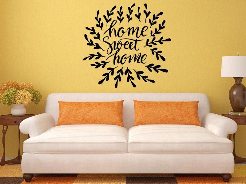 Samolepky na zeď Nápis Home Sweet Home 0627 - Samolepící dekorace a nálepka na stěnu
