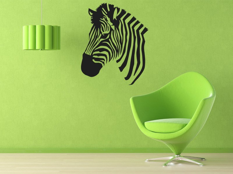 Samolepky na zeď Zebra 014 - Samolepící dekorace a nálepka na stěnu