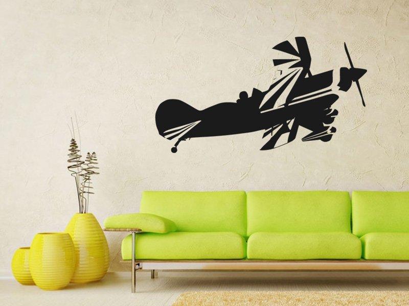 Samolepky na zeď Letadlo 013 - Samolepící dekorace a nálepka na stěnu