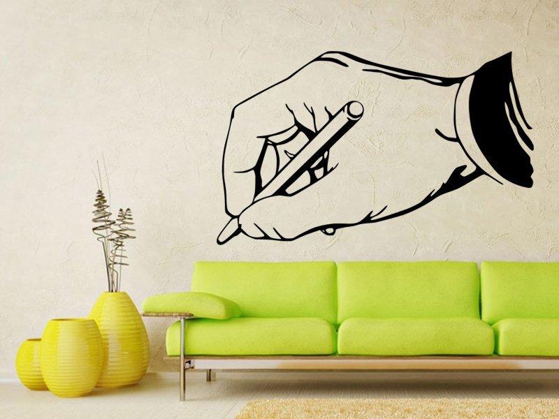 Samolepky na zeď Píšící ruka 0241 - Samolepící dekorace a nálepka na stěnu