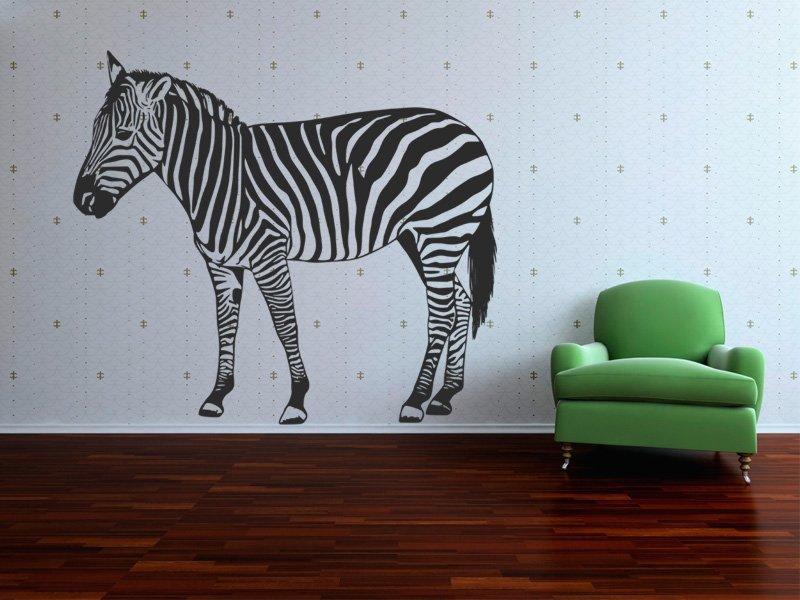 Samolepky na zeď Zebra 013 - Samolepící dekorace a nálepka na stěnu