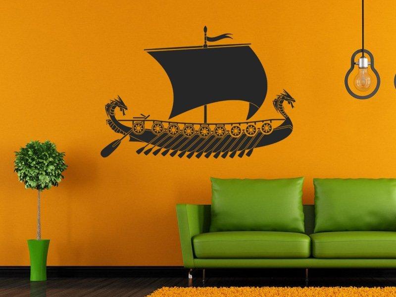 Samolepky na zeď Plachetnice 015 - Samolepící dekorace a nálepka na stěnu