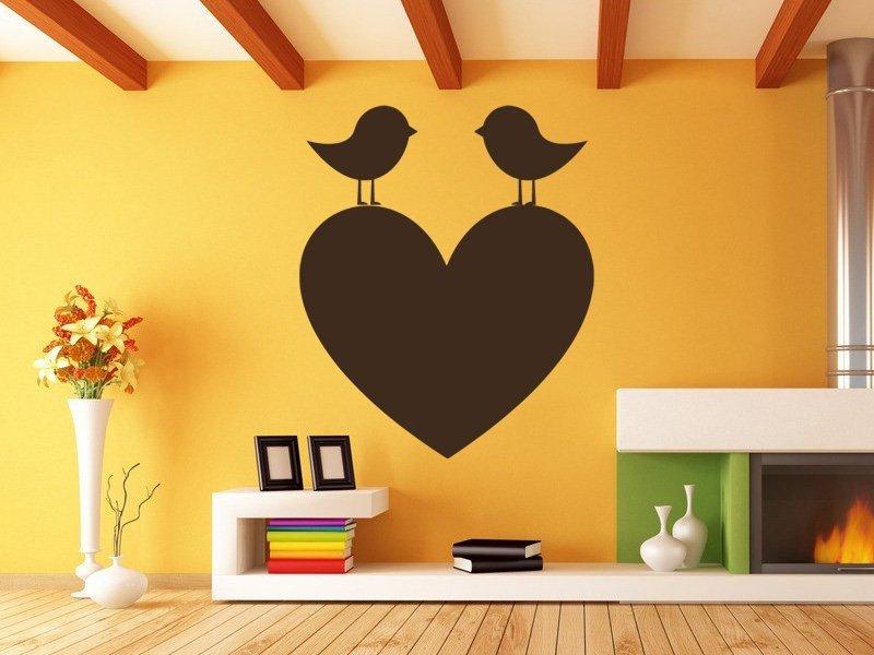 Samolepky na zeď Srdce 009 - Samolepící dekorace a nálepka na stěnu