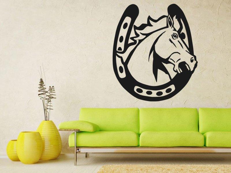 Samolepky na zeď Kůň 0389 - Samolepící dekorace a nálepka na stěnu