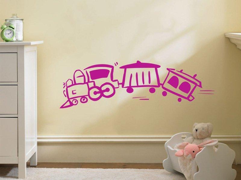 Samolepky na zeď Vláček 004 - Samolepící dekorace a nálepka na stěnu