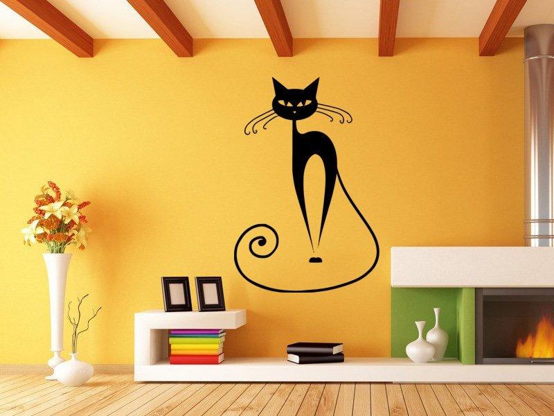 Samolepky na zeď Kočka 007 - Samolepící dekorace a nálepka na stěnu