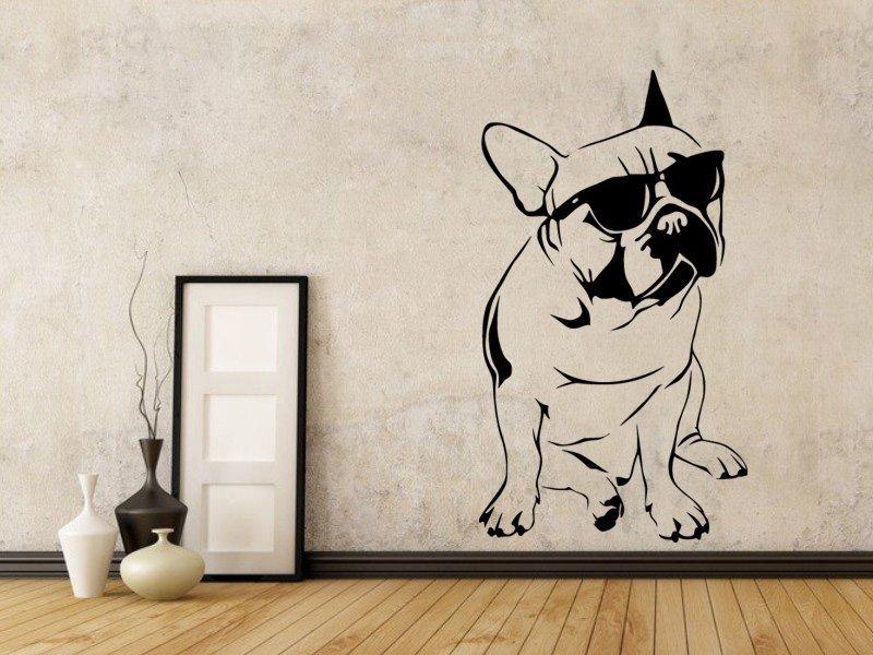 Samolepky na zeď Buldoček 002 - Samolepící dekorace a nálepka na stěnu