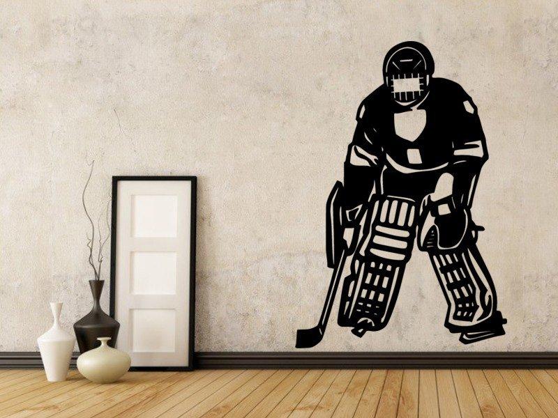 Samolepky na zeď Hokejista 003 - Samolepící dekorace a nálepka na stěnu