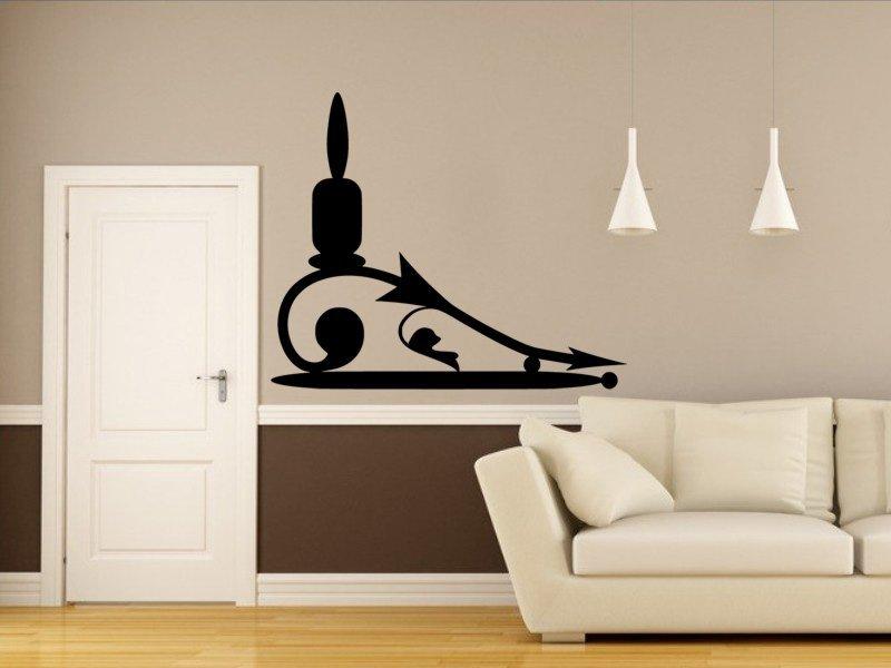 Samolepky na zeď Svícen 0025 - Samolepící dekorace a nálepka na stěnu