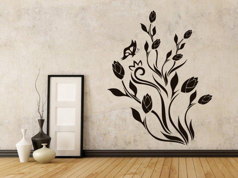 Samolepky na zeď Tulipány 001 - Samolepící dekorace a nálepka na stěnu