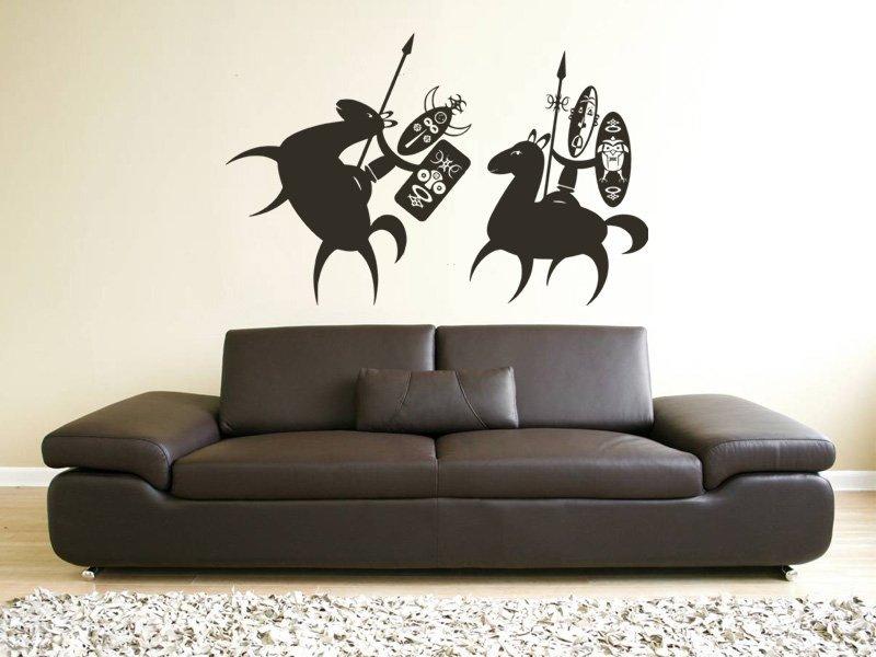 Samolepky na zeď Afričani 004 - Samolepící dekorace a nálepka na stěnu