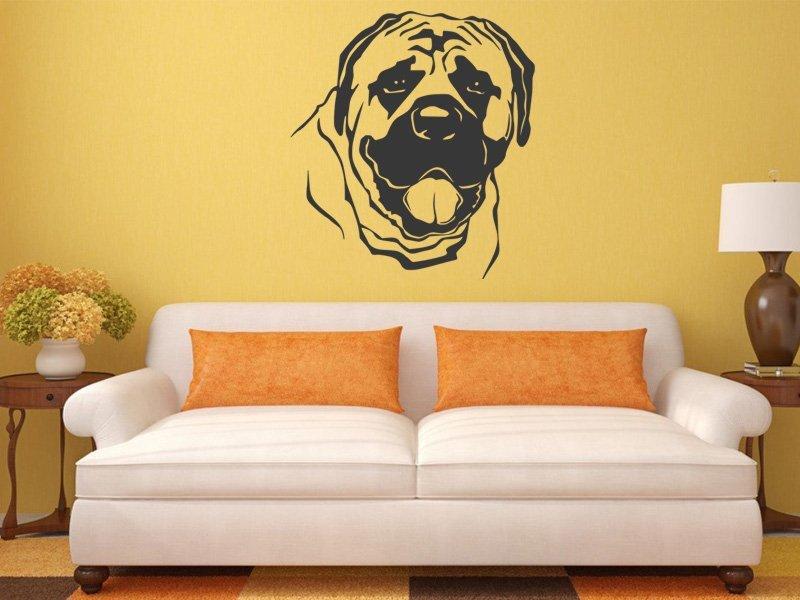 Samolepky na zeď Mastif 002 - Samolepící dekorace a nálepka na stěnu