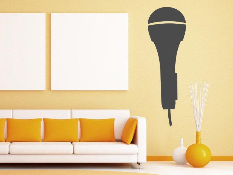 Samolepky na zeď Mikrofon 001 - Samolepící dekorace a nálepka na stěnu