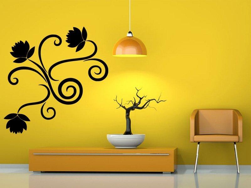 Samolepky na zeď Ornamenty z rostlin 019 - Samolepící dekorace a nálepka na stěnu