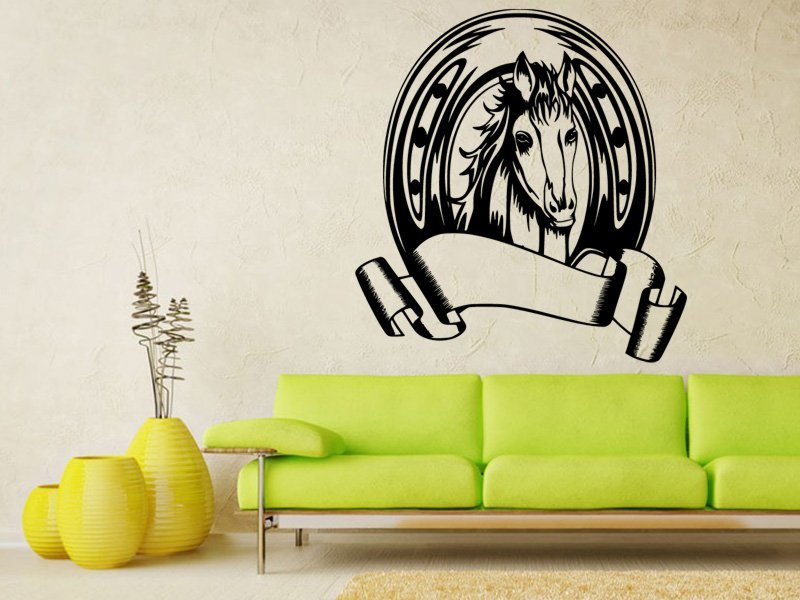 Samolepky na zeď Kůň 0411 - Samolepící dekorace a nálepka na stěnu