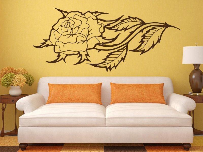 Samolepky na zeď Růže 003 - Samolepící dekorace a nálepka na stěnu