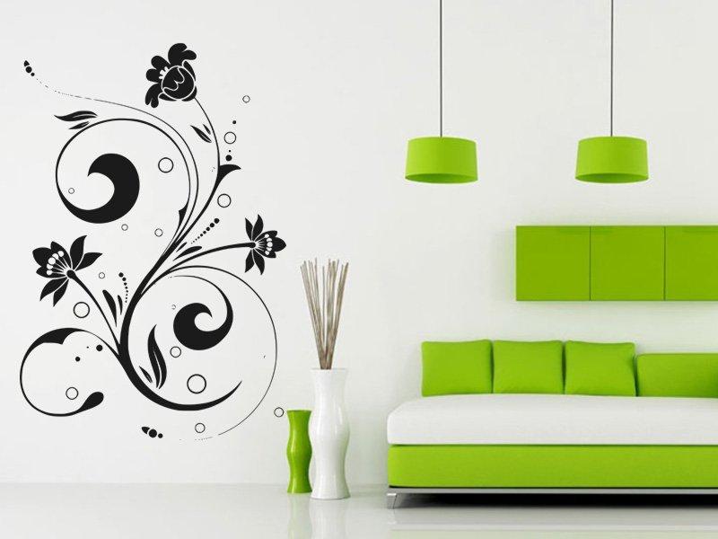 Samolepky na zeď Ornamenty z rostlin 040 - Samolepící dekorace a nálepka na stěnu
