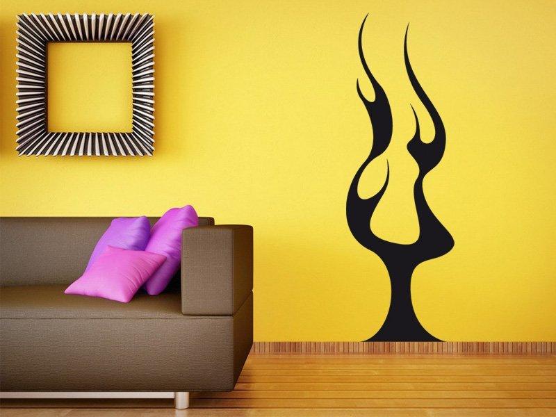 Samolepky na zeď Plameny 013 - Samolepící dekorace a nálepka na stěnu