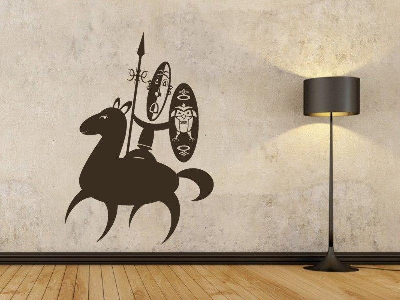 Samolepky na zeď Afričani 005 - Samolepící dekorace a nálepka na stěnu