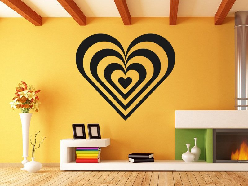 Samolepky na zeď Srdce 008 - Samolepící dekorace a nálepka na stěnu