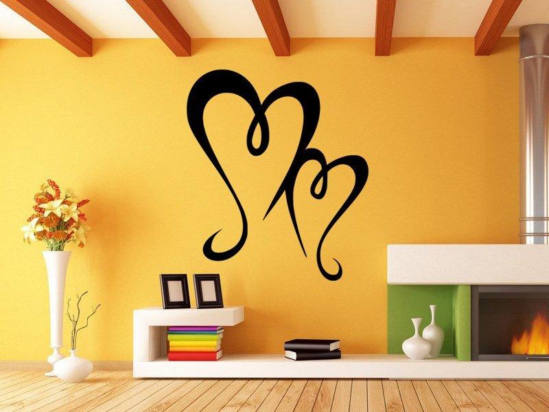 Samolepky na zeď Srdce 0262 - Samolepící dekorace a nálepka na stěnu