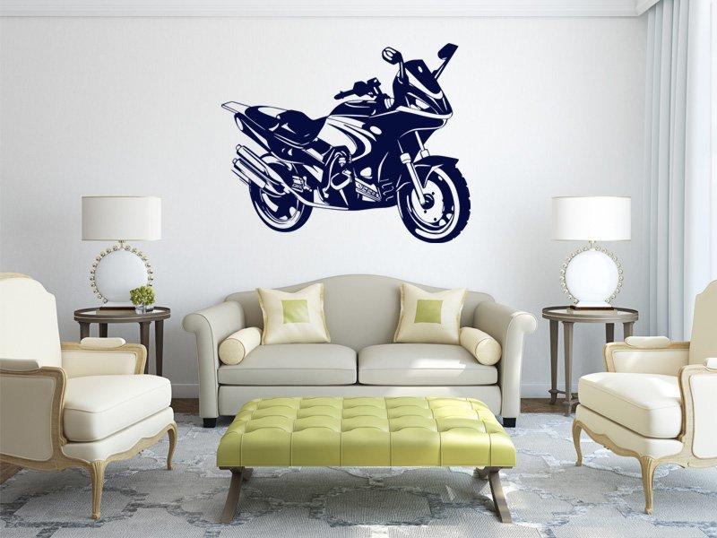 Samolepky na zeď Motorka 016 - Samolepící dekorace a nálepka na stěnu