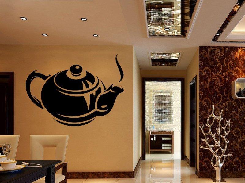 Samolepky na zeď Konvice čaje 0076 - Samolepící dekorace a nálepka na stěnu