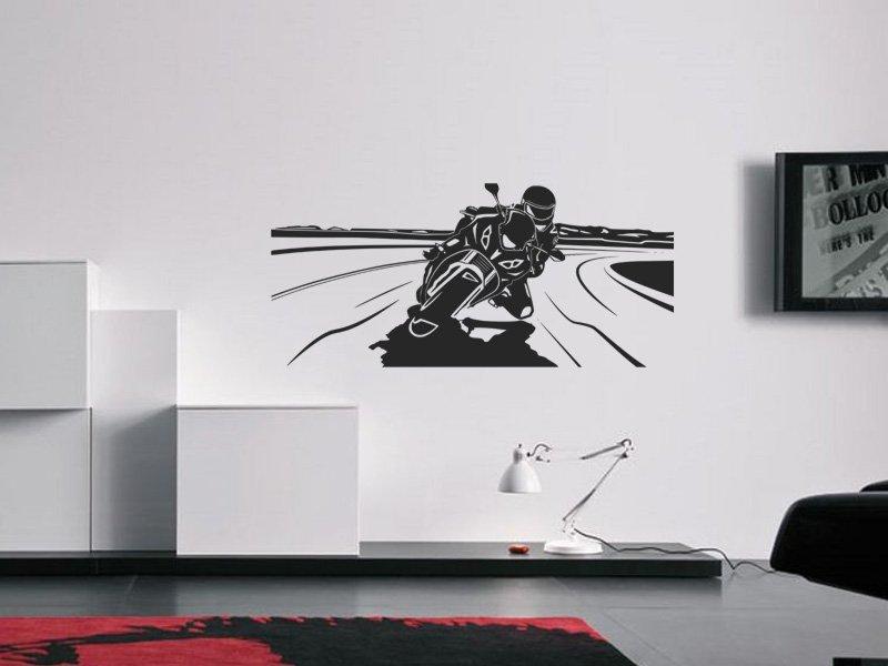 Samolepky na zeď Motorka 019 - Samolepící dekorace a nálepka na stěnu