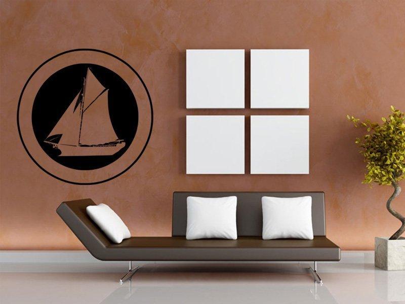 Samolepky na zeď Plachetnice 007 - Samolepící dekorace a nálepka na stěnu