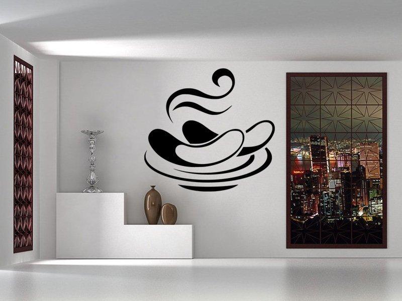 Samolepky na zeď Talíř s klobásou 0155 - Samolepící dekorace a nálepka na stěnu