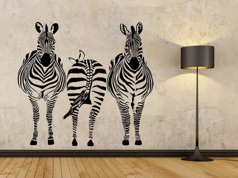 Samolepky na zeď Zebra 015 - Samolepící dekorace a nálepka na stěnu